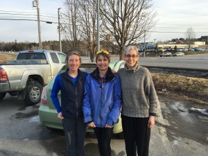 Beth Daut, Dot Martin, and Sue Hackney after 5 College Realtors 10 Miler